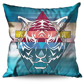 Tiger Ornament Linen Cushion 30cm x 30cm | Wellcoda