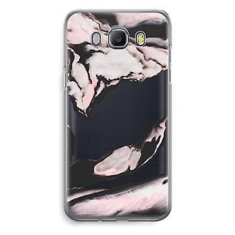 Samsung Galaxy J5 (2016) Transparent Case (Soft) - Pink stream