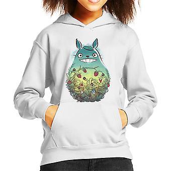Ghibli Totoro metsän marjat Lasten huppari