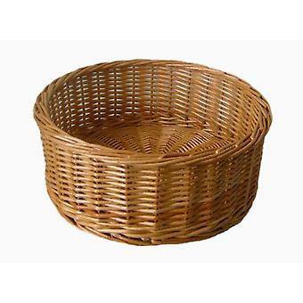Large Round Straight Sided Wicker Tray