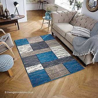 Portland stijl blauw tapijt