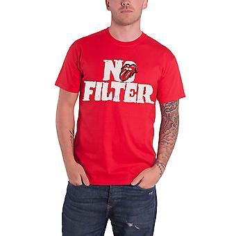 De Rolling Stones T Shirt No Filter Tour Header Logo nieuwe officiële Mens rood