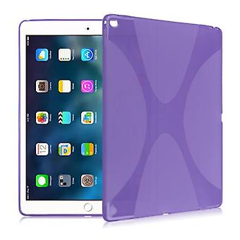 Protective cover silicone X-line series purple case for iPad Pro 10.5 2017 bag