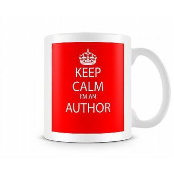 Houd kalm Im een auteur bedrukte mok bedrukte mok