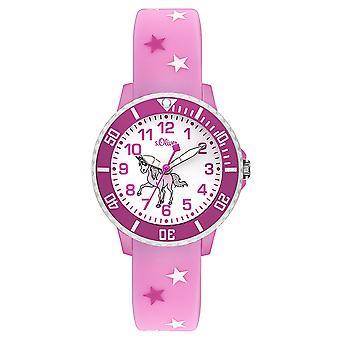 s. Oliver hodinky silikónová stuha hodinky deti SO-3561-PQ