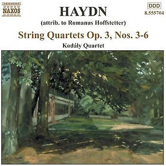 J. Haydn - Haydn: String Quartet, Op. 3, Nos 3-6 [CD] USA import