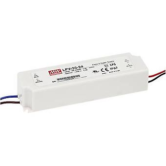 Mean Well LPV-35-5 LED transformator Constante spanning 25 W 0 - 5 A 5 V DC niet dimbaar, Overspanningsbeveiliging