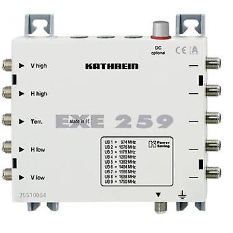 Kathrein EXE 259 SAT unicable cascade multiswitch Inputs (multiswitches): 5 (4 SAT/1 terrestrial) No. of participants: 9