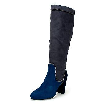 Rialto Womens collette Fabric Almond Toe Knee High Fashion Boots