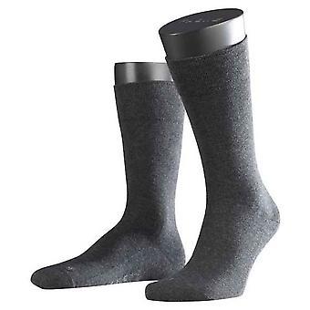 Falke Melange Londres sensível Midcalf meias - antracite