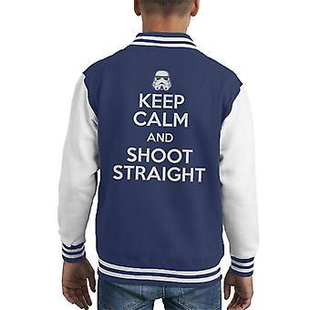 Opprinnelige Stormtrooper være rolig og skyter rett barneklubb Varsity jakke