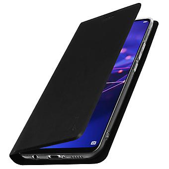 Akashi slim case, flip wallet cover for Huawei Mate 20 lite – Black