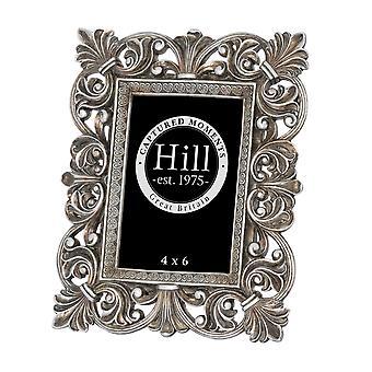 Hill interiörer antik Silver Fleur De Lis dekorativ ram