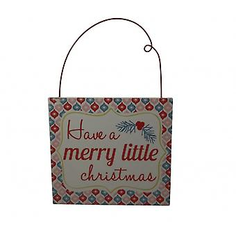 Gisela Graham Christmas Vintage Merry Christmas Sign