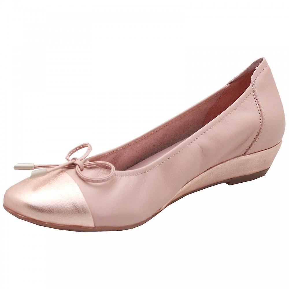 Sabrinas Low Wedge Soft Leather Ballet Pump