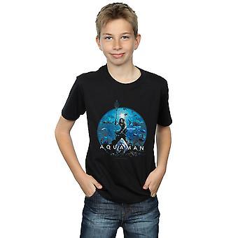 DC Comics pojkar Aquaman cirkel affisch T-Shirt