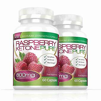 Raspberry Ketone Pure Max Strength 600mg - 120 Capsules (2 Months) - Max Strength Raspberry Ketone - Evolution Slimming
