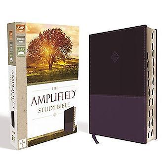 O estudo amplificado Bíblia, imitação de couro, roxo, indexados