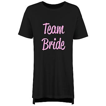 Team Bride Ladies Nightie Slogan