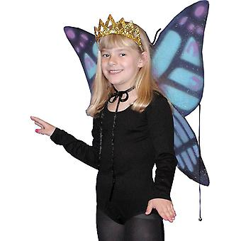 أجنحة الأطفال الفراشة الزرقاء