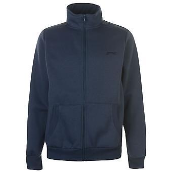 Slazenger Mens Full zippé veste coton manches longues Top Casual