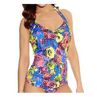 Freya Floral Pop As3170 W armature, Halter Top Tankini