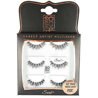 SOSU Premium Lashes Make Up Artist Multipack Sara