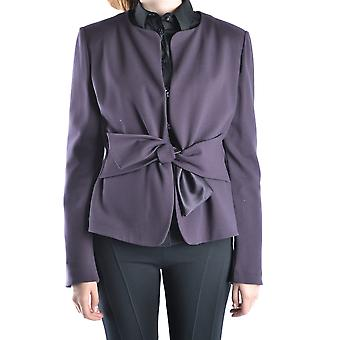 Armani Collezioni Ezbc049056 Women's Purple Viscose Outerwear Jacket