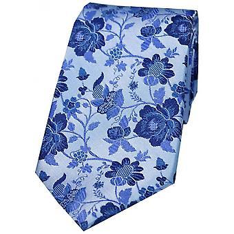 David Van Hagen Floral Patterned Silk Tie - Dusky Pink