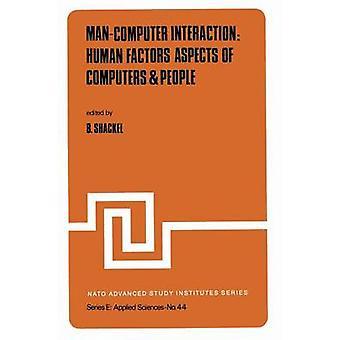 ManComputer vuoro vaikutus inhimilliset tekijät näkö kohdat tieto koneet ihmiset Shackel & B.