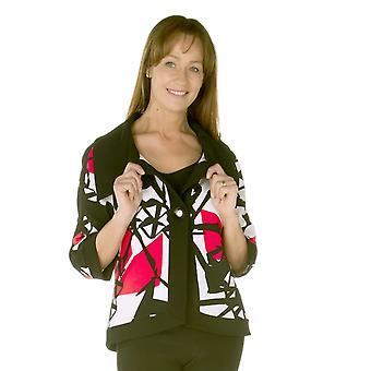 TIA Jacket 77382 7259 Black With Red