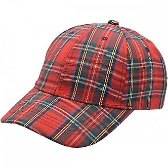 Union Jack Wear Red Tartan Baseball Cap. Scotland Baseball Cap Adult Size