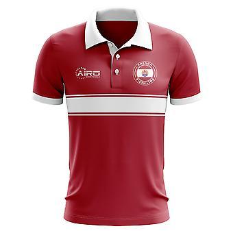 Französisch-Polynesien-Konzept-Streifen-Polo-Shirt (rot)