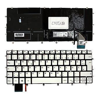 Dell PK1320C2B16 Backlit White Windows 8 German Layout Replacement Laptop Keyboard