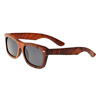 Earth Wood Portsmouth Polarized Sunglasses - Orange Stripe/Black