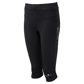 Ronhill Ss19 Stride Stretch Capri (cropped Running Tights) All Black