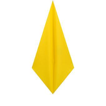 d/Spoke Mens Lemon Yellow Pocket Square Handkerchief Satin Feel Fabric Evening Partywear Accessory