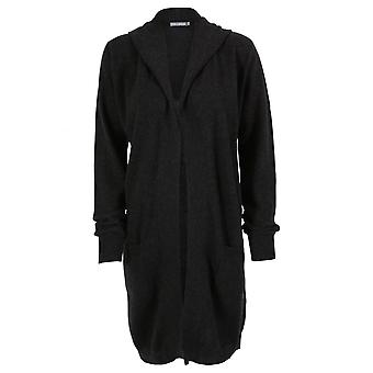 Cashmere Penny Hooded Long Line Cardigan