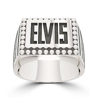 Elvis Large Ring In Sterling Silver