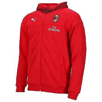 2019-2020 AC Milan Puma Casuals volledige Zip Hoody (rood)