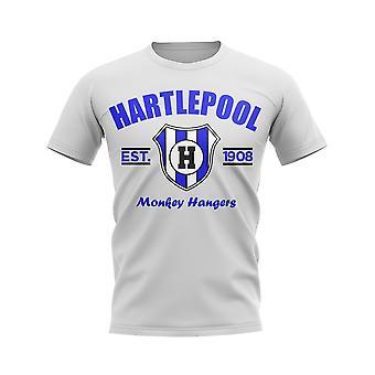Hartlepool Established Football T-Shirt (White)