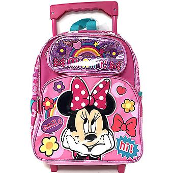 Small Rolling Backpack - Minnie Mouse - Rainbow Shine Pink 12
