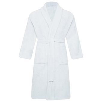 Men Women Unisex Egyptian Cotton Bathrobe Shawl Collar Terry Towel Dressing Gown