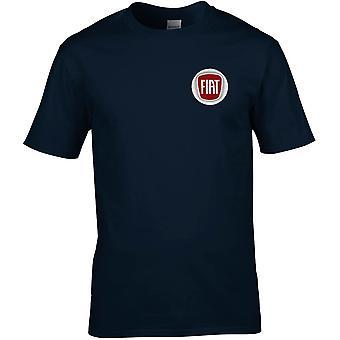 Fiat Motor Car Motoring - gesticktes Logo - Baumwolle Premium T-Shirt