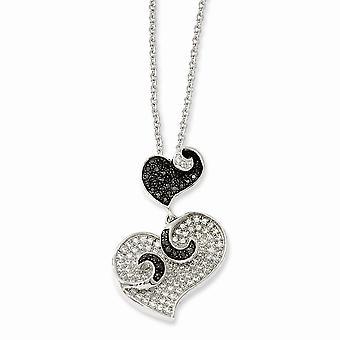 925 plata esterlina Rhodium medor placa de langosta cierre y CZ Circocúbico Cubic simulado diamante brillante ascuas amor él
