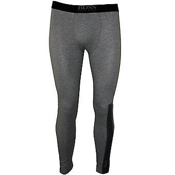 BOSS Logo Block Long Johns, Grey Melange