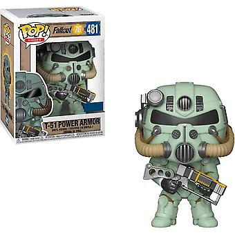 Fallout 76 T-51 Power Amor (Green) US Exclusive Pop! Vinyl