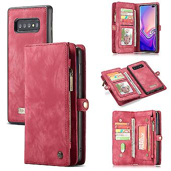 Cell phone case for Samsung Galaxy S10 G973F CaseMe cover purse + case cover art leather Red