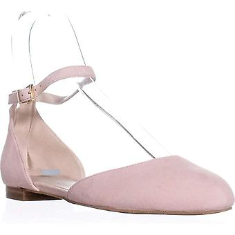 KENNETH COLE New York Willow Ankle Strap Flats, Rose, 7.5 US / 38 EU