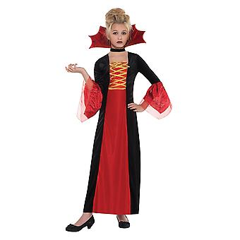 Filles Halloween Gothic Princess Fancy Dress Costume Age 4-6